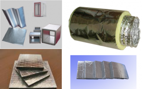 Insulated shielded aluminum foil
